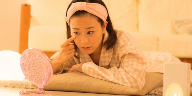 睡眠不足・夜更かしの人のための、肌荒れ対策!