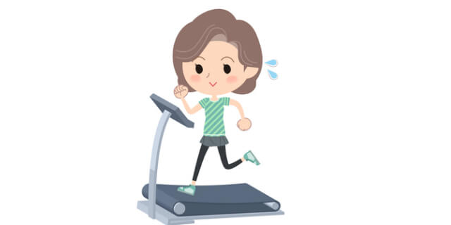室内で運動する人