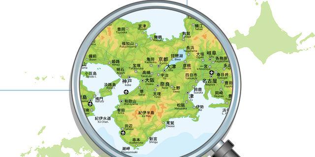 日本地図の近畿地方