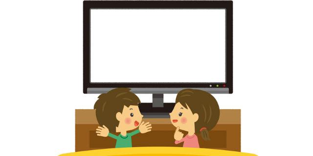 """""""子どもがテレビを観る"""""""