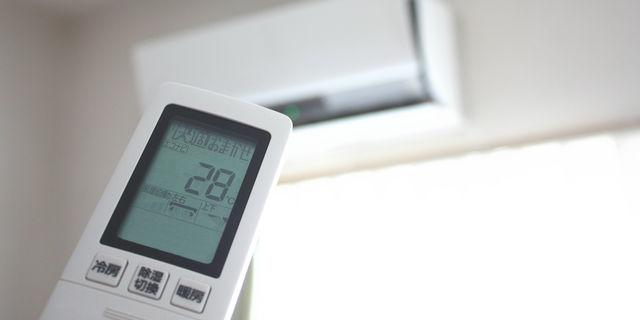 エアコン設定28度