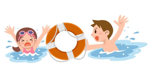 溺れる女の子