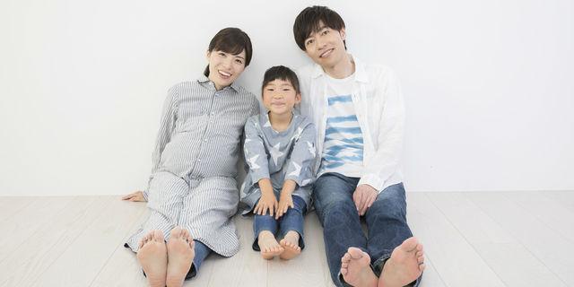 妊娠中の奥さんと家族