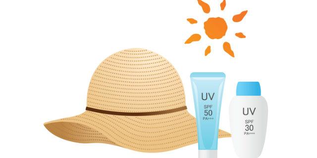 紫外線対策の帽子と日焼け止め