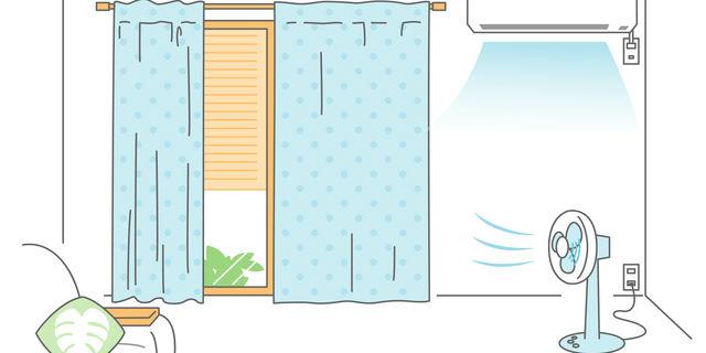 冷房と扇風機の利用