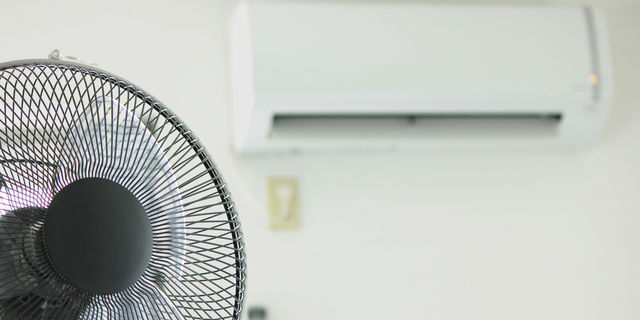 扇風機と冷房を同時使用