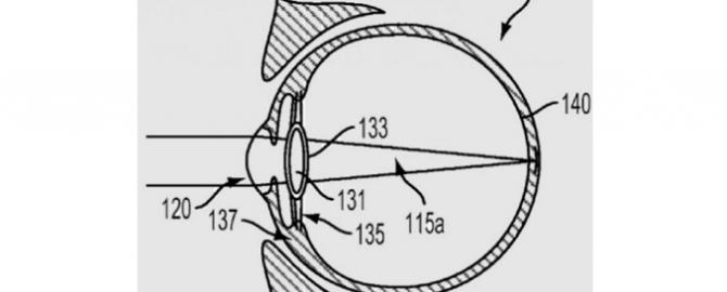 Googleが特許申請した、人間の目に埋め込むコンピュータ機能を持つレンズ